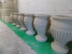 Classic Stone Urns.