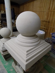20 inch Large Stone Pier Cap and Ball Final.